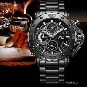 Jam Tangan AC 9205MCGB Grey Black Alexandre Christie Original